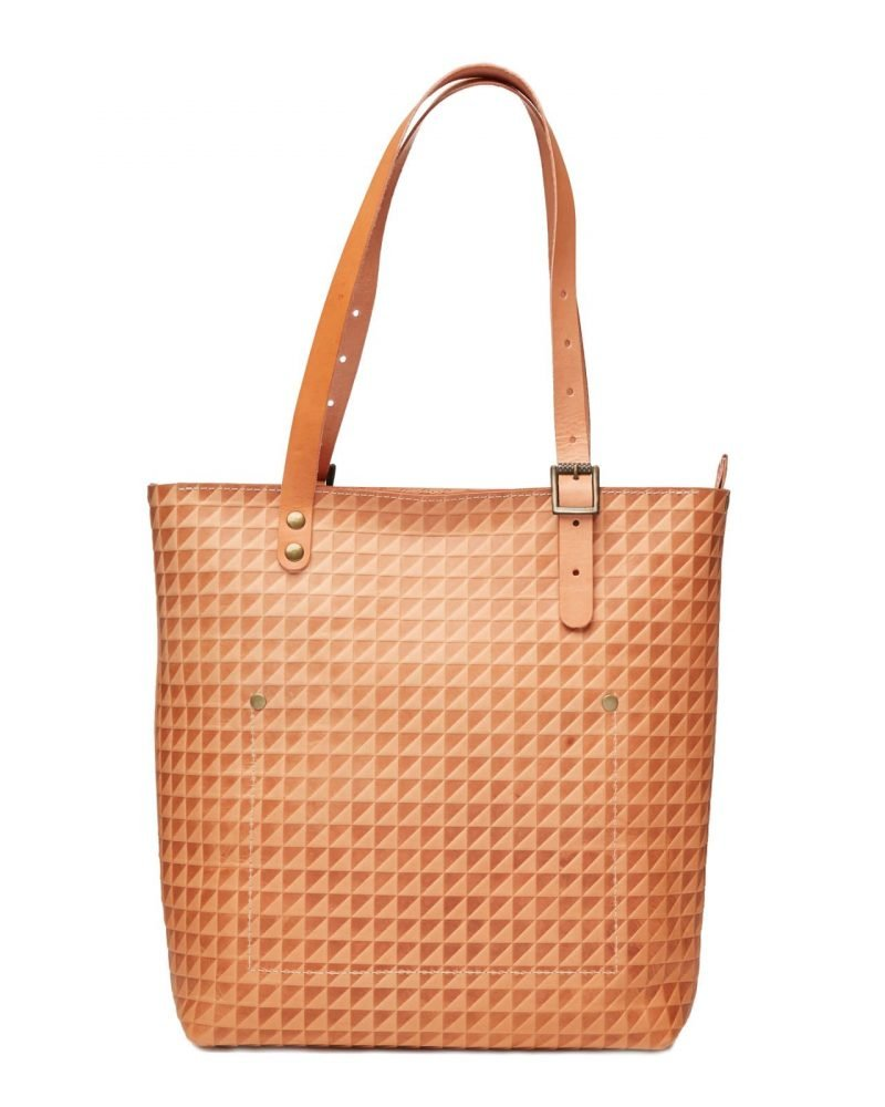 tan leather shoulder tote bag