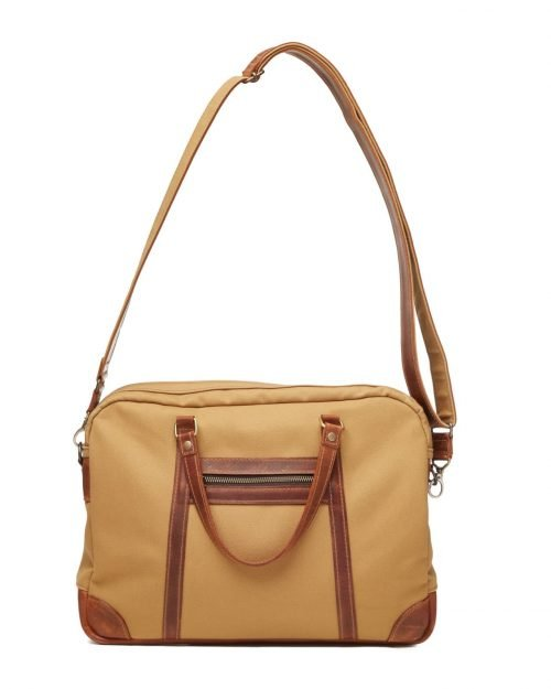 sand timber waxed canvas satchel