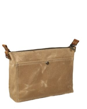 sage waxed canvas purse